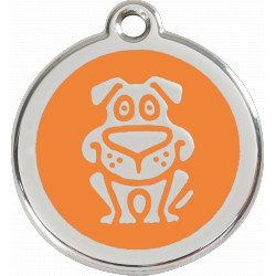 MEDAILLE pour CHIEN ou CHAT RED DINGO ACIER INOX DOG ORANGE