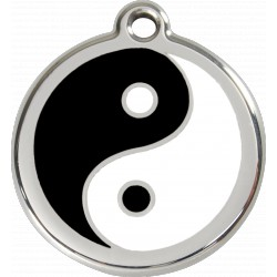 MEDAILLE pour CHIEN ou CHAT RED DINGO ACIER INOX YIN & YANG