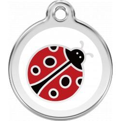 Médaille Thème insectes Red Dingo en acier inox émaillé.