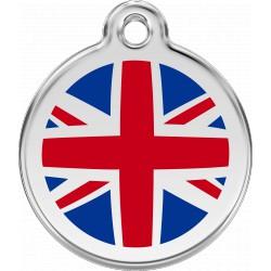 Médaille Thème drapeaux Red Dingo en acier inox émaillé.