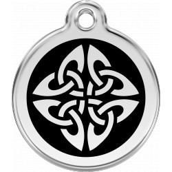 Médaille Motif tribal Red Dingo en acier inox émaillé.