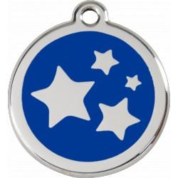Médaille Etoiles Red Dingo en acier inox émaillé.