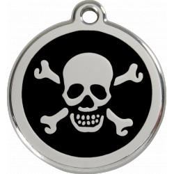 Médaille Pirate Red Dingo en acier inox émaillé.