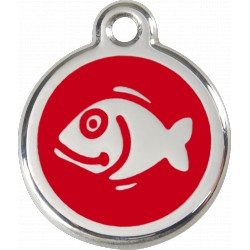 MEDAILLE pour CHAT RED DINGO ACIER INOX POISSON ROUGE RED DINGO