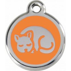 MEDAILLE pour CHAT RED DINGO ACIER INOX RED DINGO ORANGE