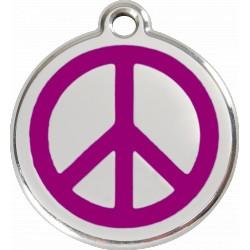 Médaille Paix Red Dingo en acier inox émaillé.