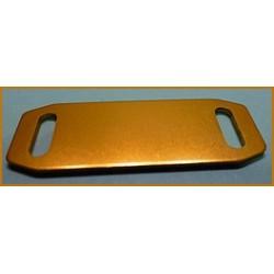 Plaque mini pour collier en aluminium anodisé.