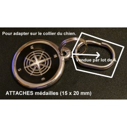 Attaches médailles ovales (15 x 20 mm) Vendues par lot de 4