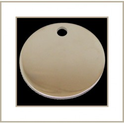 Médaille ronde en laiton chromé