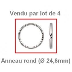 Anneaux (Ø 24,6 mm) en acier (Vendus par lot de 4)