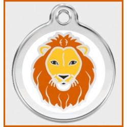 Médaille lion Red Dingo en acier inox émaillé.