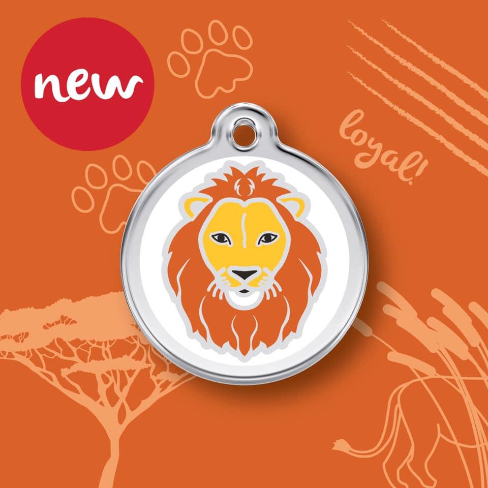 Médaille lion nouveau modèle pour chien et chat