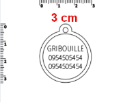 Dimension médaille 3 cm