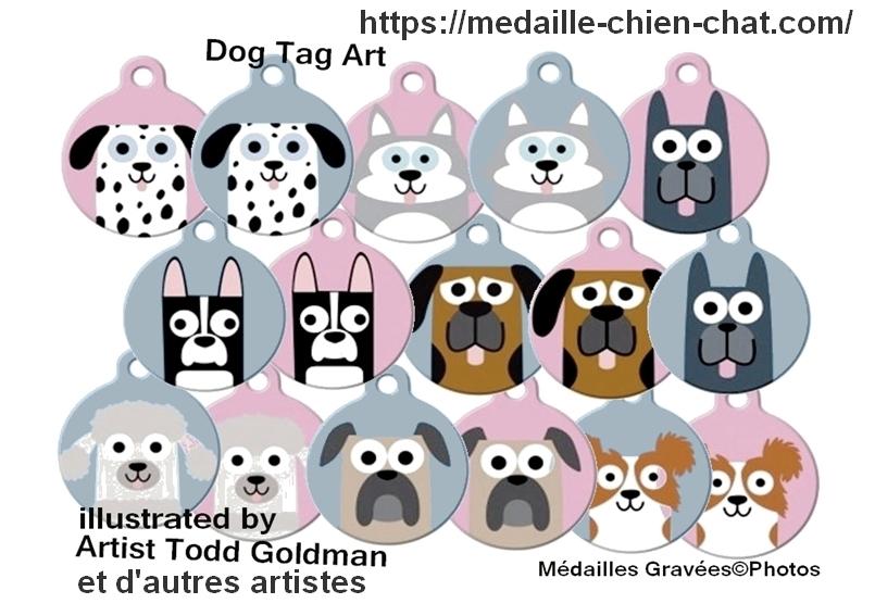 médailles pour chiens réalisées par des artistes